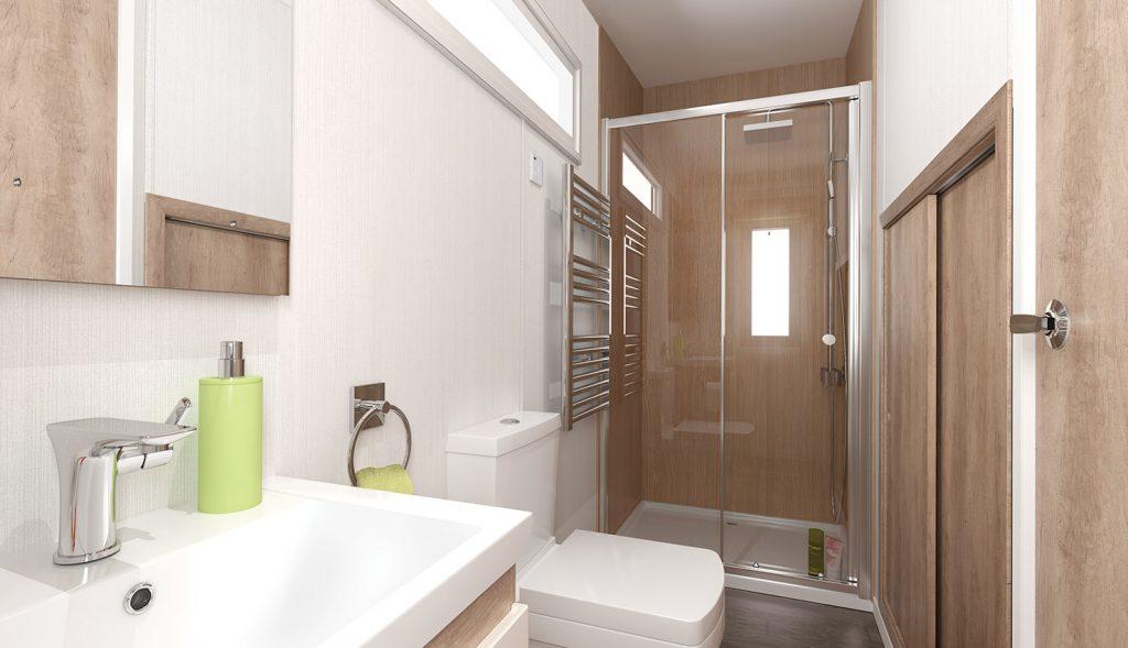 Glamping pod washroom
